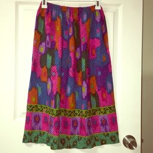 Vintage multicolored maxi skirt